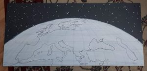 Drawing Earth for Science Project
